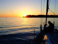 Tramonti sulla barca