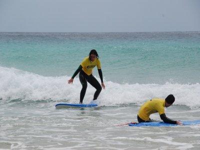 Curso de surf Caleta de Fuste Fuerteventura 5 días