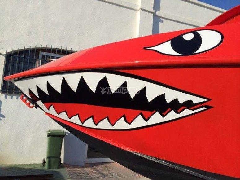 Barco gran tiburon