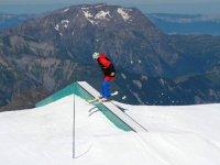 Aprendiendo nuevas tecnicas de esqui