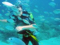 alumno realizando inmersion