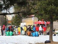 Grupo en el campamento de snow