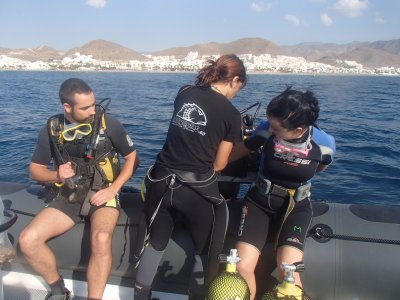 Diving baptism in Isla de San Andrés, Carboneras
