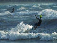 享受海浪和风力