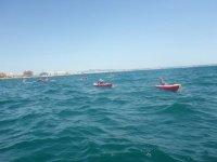 Entrando al mar