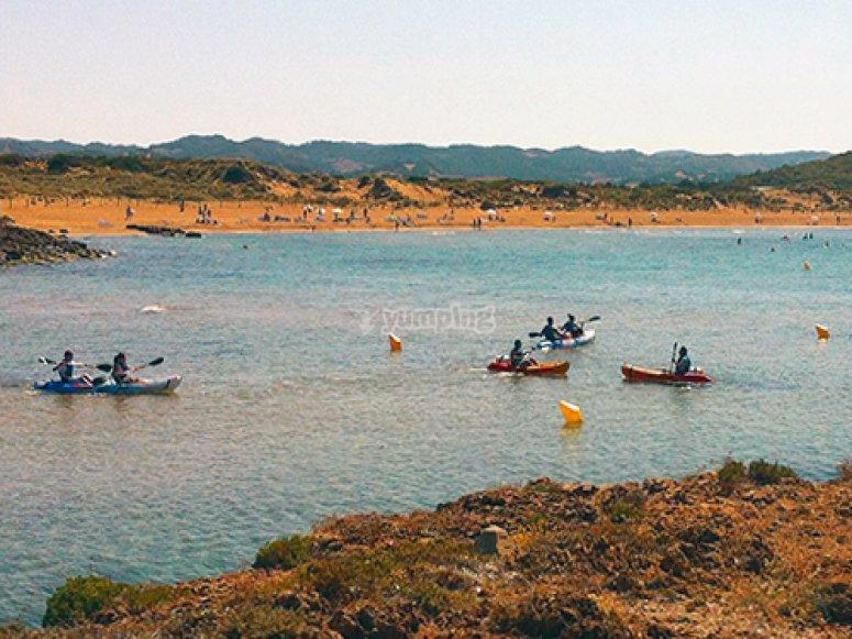 """Excursion guiada kayak, snorkel y bautizo"""