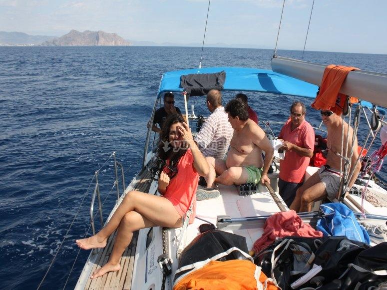 navegando a bordo