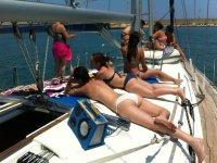 Enjoying the boat trip