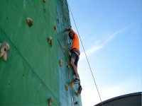 Climbing the climbing wall