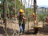 Recorrido de arborismo en Sant Feliu. 3-6 años