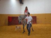 Con el caballo y el perro