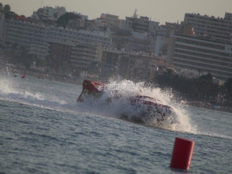 Giro rápido con jetboat