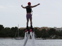 Starting to rise with the flyboard