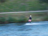 Velocidad en el agua sobre los esquís