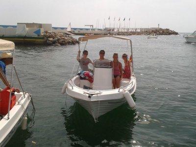 Alquiler barco a motor costa Barcelona 4 horas