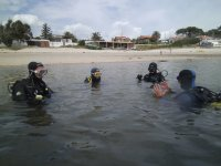 preparandose para la inmersion