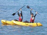 Alquiler de kayak, costa de Barcelona, 1 hora