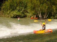Kayaks descend Segura