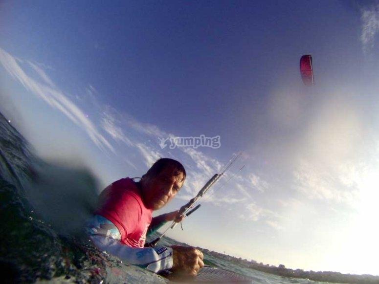 Kitesurfing in Santander