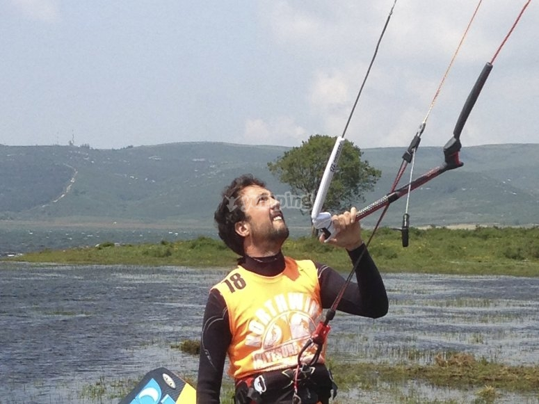Handling the kite
