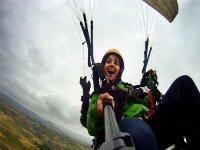 从卡斯蒂列霍斯出发的滑翔伞航班,20分钟