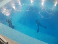 Inmersion de buceo en foso en Fuenlabrada