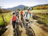 Alumnos en bici