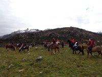 Saliendo con los caballos por el monte