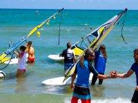 Clase de windsurf en Gandía