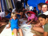 Pintando en clase