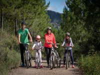 家庭自行车出游