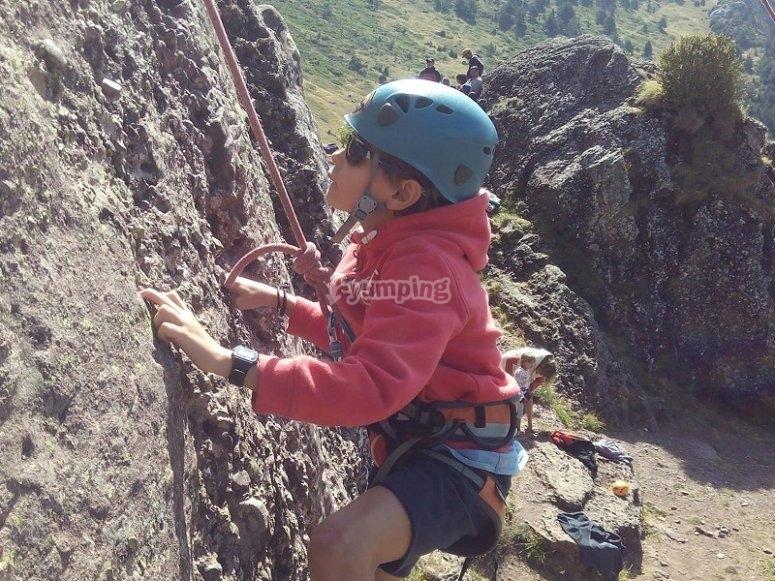Little one climbing