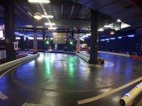 Curva en el circuito indoor