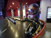 Karts waiting for the pilots