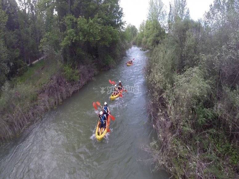 Descent on kayak
