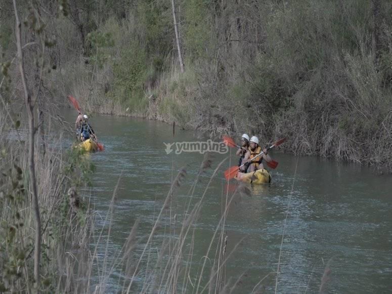 Descending the river