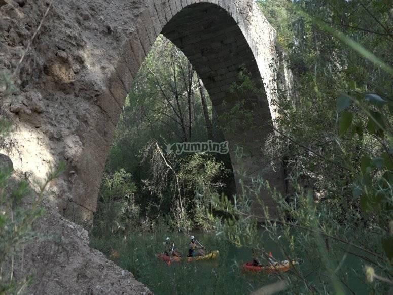 Going through the bridge