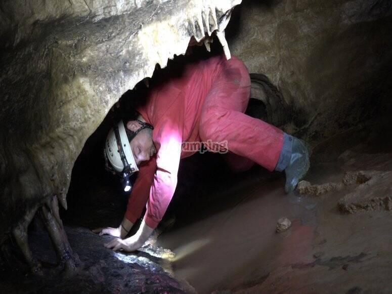 Pasando por el túnel