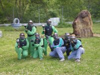 El equipo de paintball