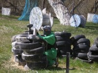 After the tires, paintball