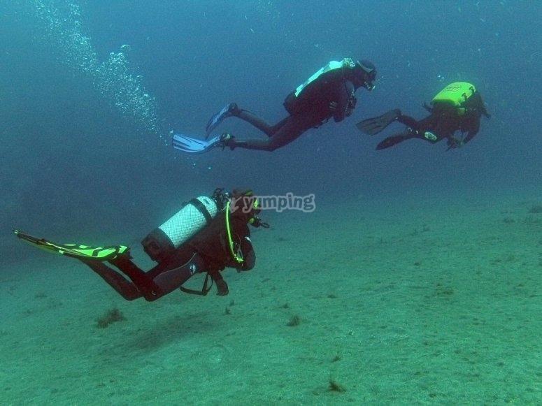 在设备中潜水