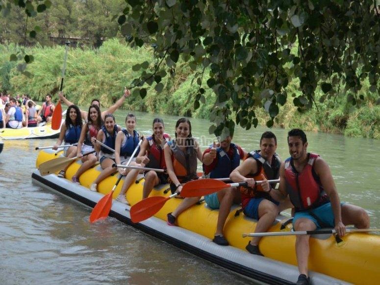 香蕉船上的塞古拉河下降
