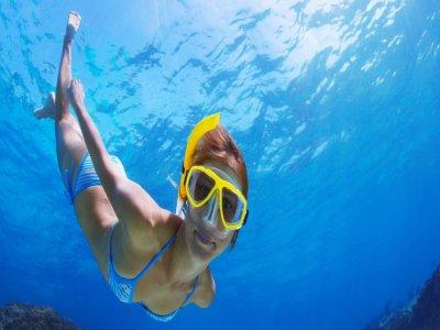 Excursión kayak, snorkel y bautizo, Julio y Agosto
