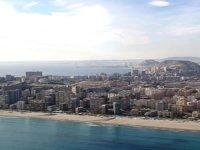 Alicante a vista de pajaro