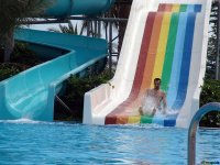Extreme gliding in slide in Mario Park