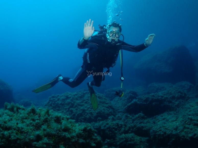 Primera inmersión de buceo en Benidorm