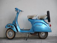 Retro scooter to make route by Roquetas