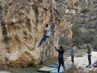 First steps of a climber