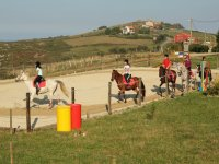 Young riders in the class