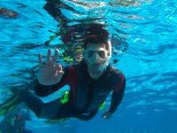 sumergido en el mar
